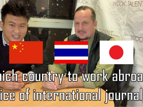 China, Japan, and Thailand, which is the best country to work abroad