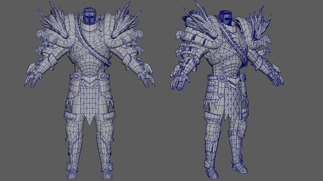 dragon-armor-3D-model-wire-frame-by-nams
