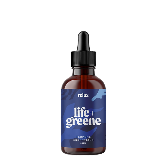 LIFE + GREEN MUSCLE AND JOINT CANNABIS TERPENE ESSENTIALS 30mL