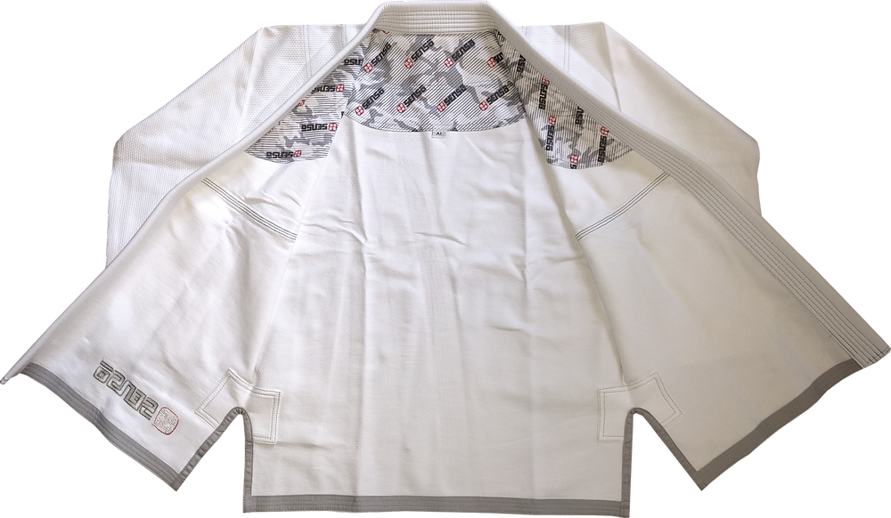 Senso BJJ jiu jitsu gi Australia in white colour