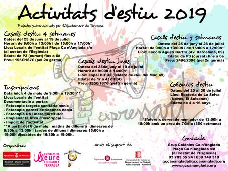 ACTIVITATS D'ESTIU