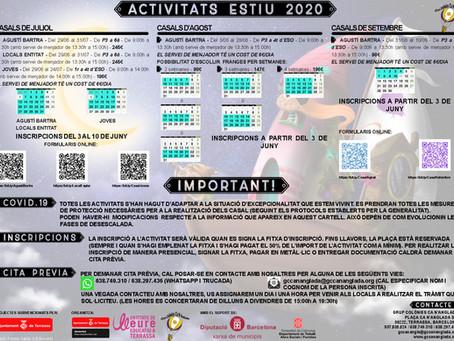 Activitats d'estiu 2020