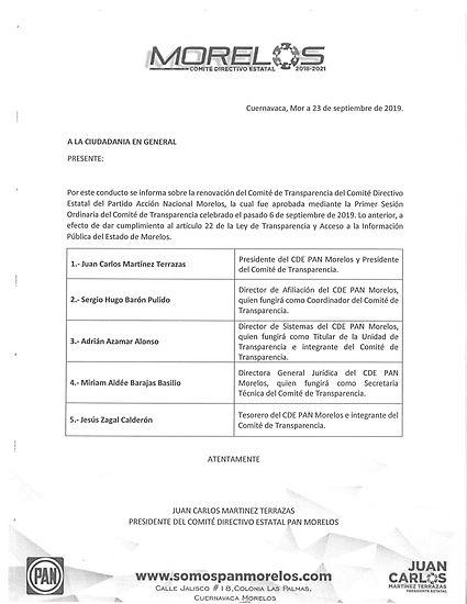 Comite de Transparencia