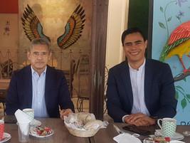 Se reúnen dirigentes del PAN con José Luis Uriostegui