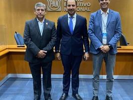 Se Reúne José Luis Urióstegui con el Presidente Nacional del PAN Marko Cortés.