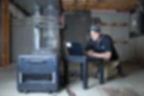 Sealing Air Leak | Laptop | Unfinished Basement | DeChant Building Performance