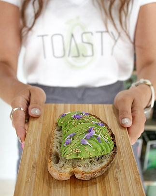 Avocado toast brunch service outdoor seating toasty san francisco brunch