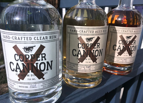 3 of the great tasting rums available at Copper Cannon