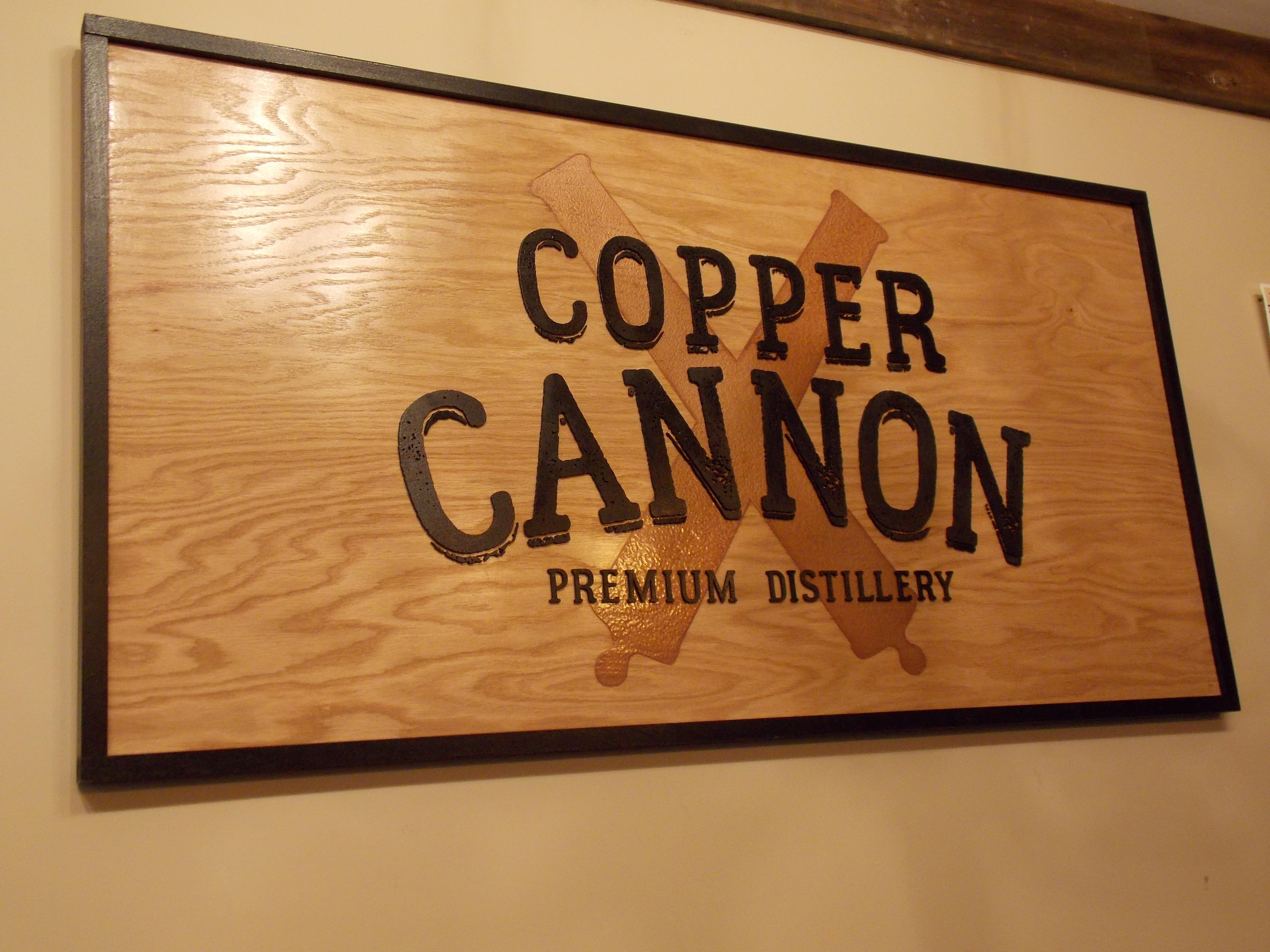 Copper Cannon Sign