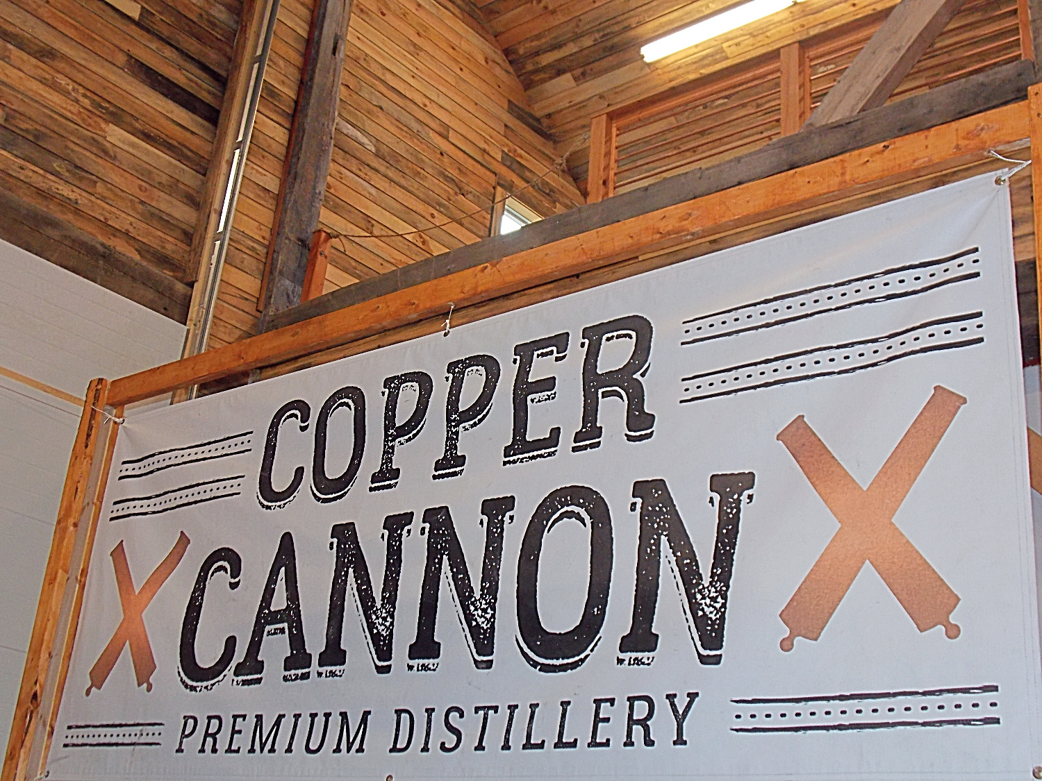 Copper Cannon Outdoor Sign