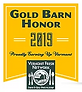 Gold Barn Honor 2019 award graphic