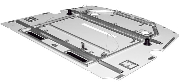 Cab ceiling panels (reverse side)