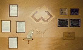 Worthington old foyer & wood logo faded