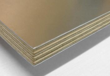 Aluminium faced plywood