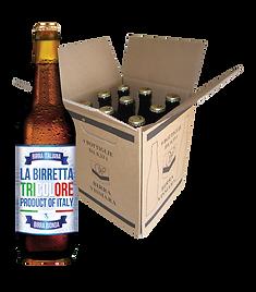 birra bionda Vismara tricolore filtrata italiana birretta cartone bottiglie 33cl
