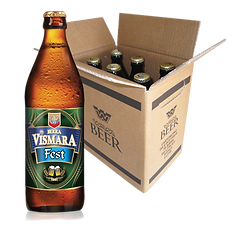 Birra Vismara Fest bionda ambrata filtrata amara oktoberfest birra artigianale italiana cartone box cassa 50cl
