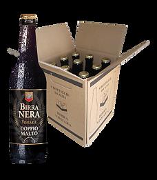 Birra Vismara nera doppio malto stout forte export Vismara birra italiana artigianale cartone bottiglie 33cl