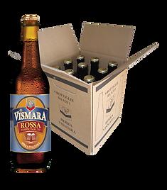 Birra rossa doppio malto filtrata Vismara birra italiana artigianale cartone bottiglie 33cl