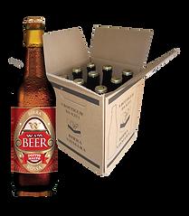 Birra rossa doppio malto non filtrata cruda Wam Vismara cartone bottiglie 33cl