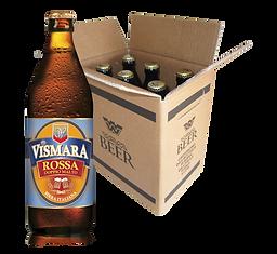 Birra Rossa Doppio Malto Vismara birra artigianale italiana cartone cassa box bottiglie da 50cl