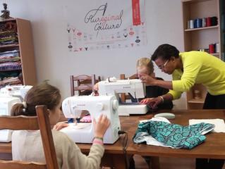 Ateliers enfants vacances hiver Aureginal couture