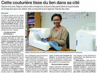 Article sur l'atelier Aureginal couture