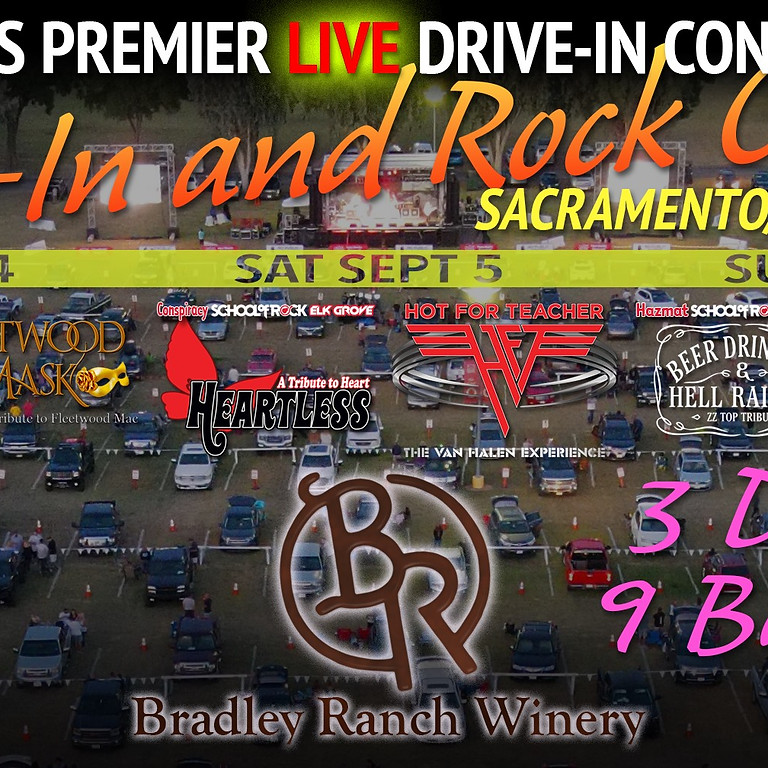 Roll-In and Rock Out! Drive-in Concert at Bradley Ranch Winery