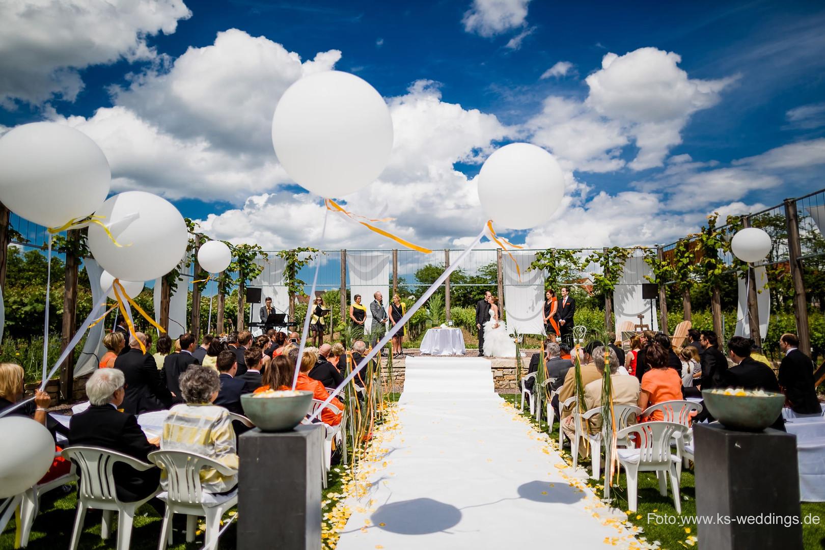 Zeremonie in der Rebarena