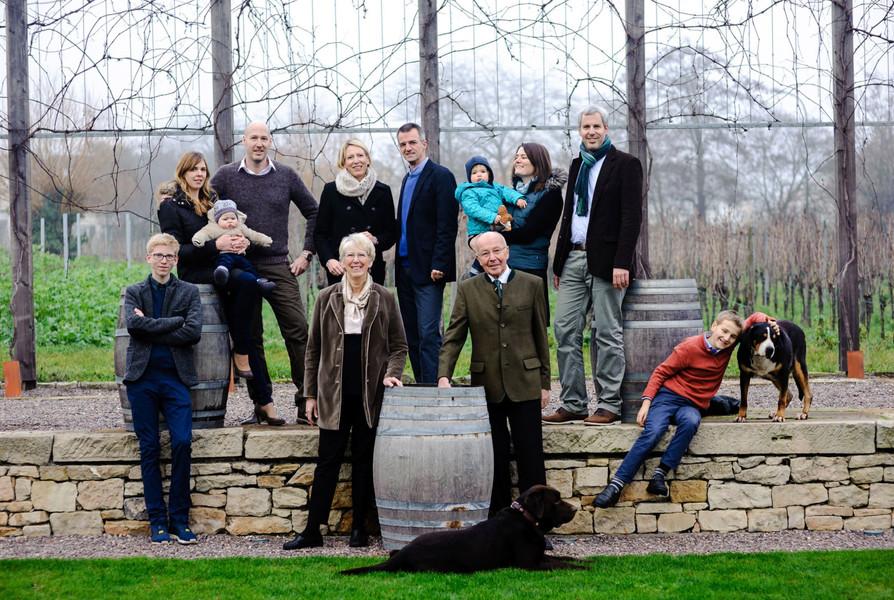 Familie Fitz in der RebArena