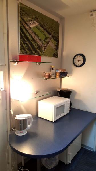 Kaffee Ecke mit Mikrowelle