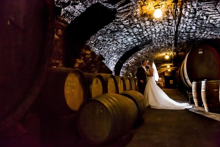 Fotoshooting im Weinkeller