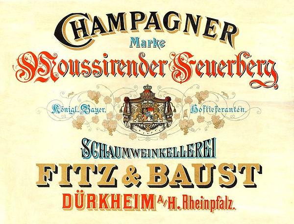 "Werbetafel ""Champagner"""