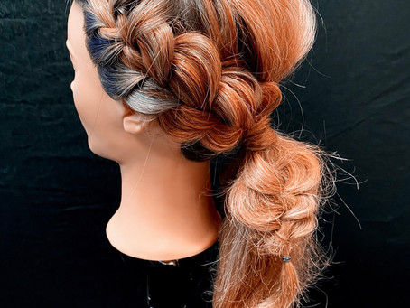 Fun, easy Braided Ponytail.