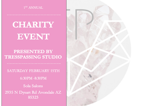 1st Annual Charity Event presented by Tress Passing Studio