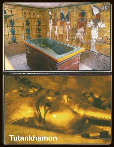 Sarcófago de Tutankhamon - cartão postal -foto de autoria desconhecida
