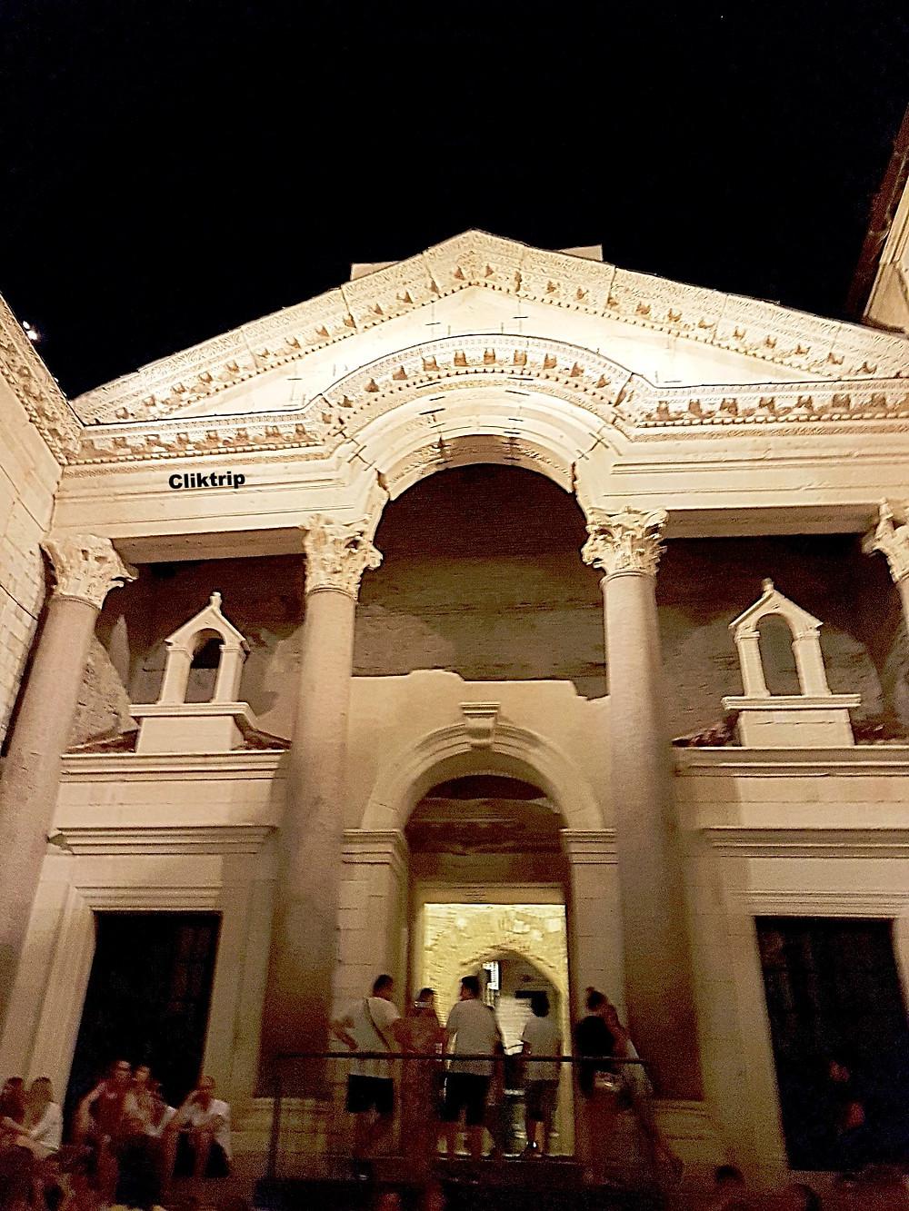 Palácio de Diocleciano em Split  , na Croácia