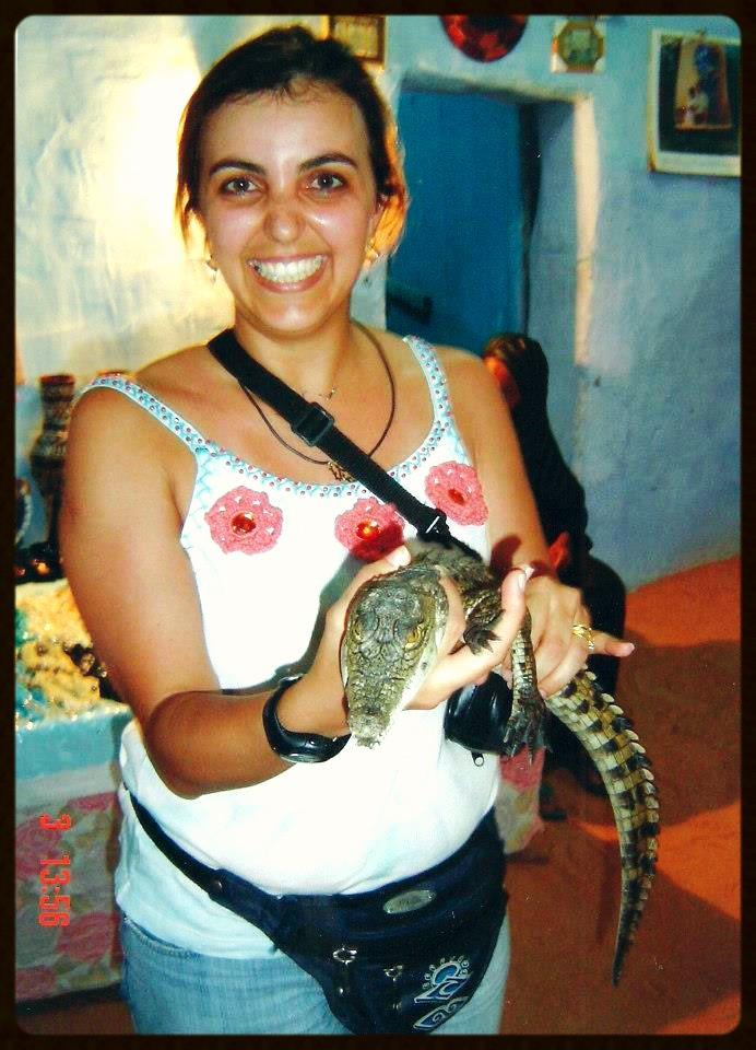 Povoado núbio - filhote de crocodilo