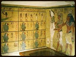Tumba de  Tutankhamon - cartão postal foto de autoria desconhecida