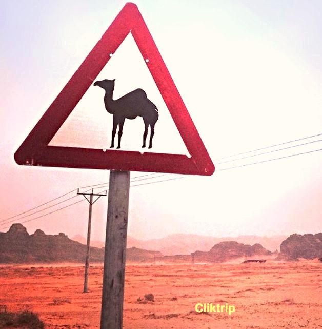Placa no deserto de Wadi Rum