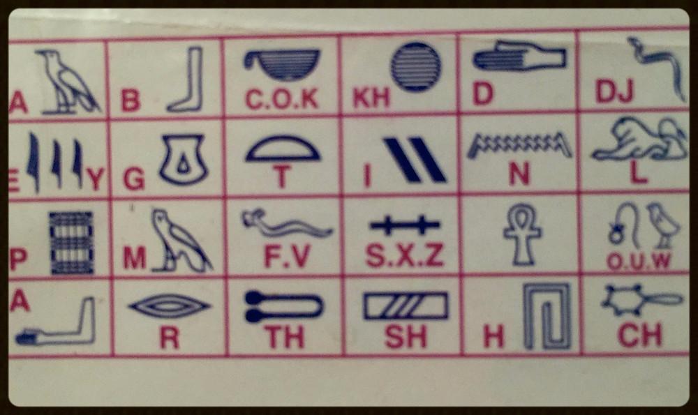 Hieróglifos - Egito