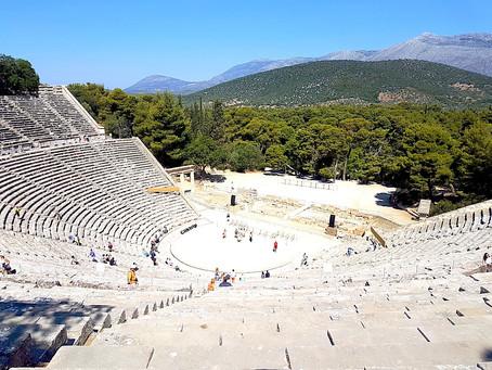 Epidauro - teatro mais antigo do mundo e Templo de Asclépio  ( Deus da Medicina )