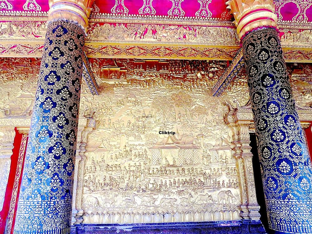 Detalhes de templos no Laos