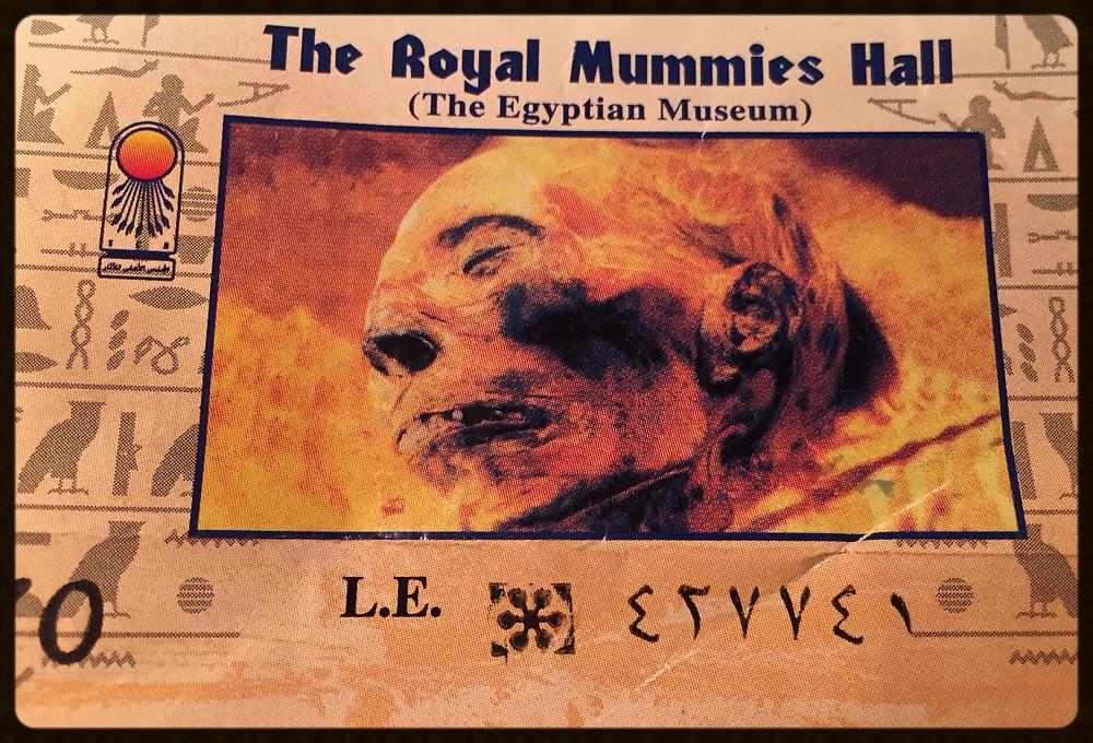 Tícket da sala das múmias reais