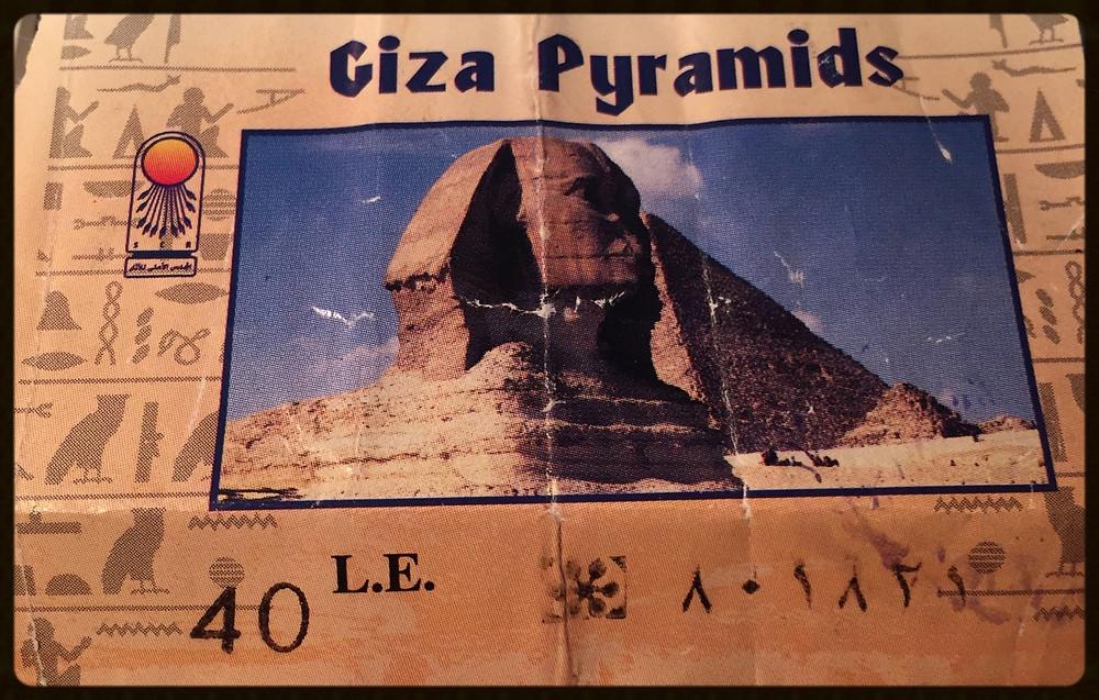 Ticket das Pirâmides - Egito