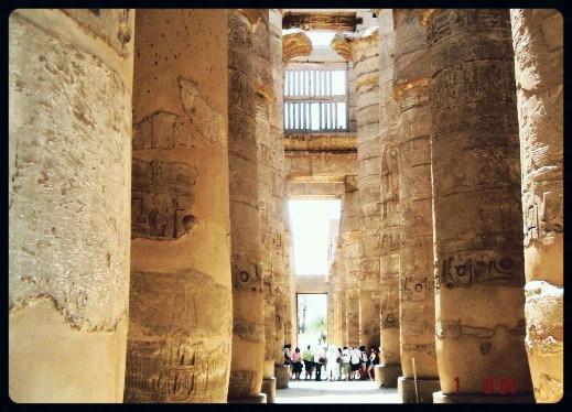 Sala Hipostila (colunas ) - Karnak - Egito