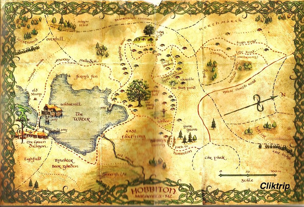 Mapa Hobbiton