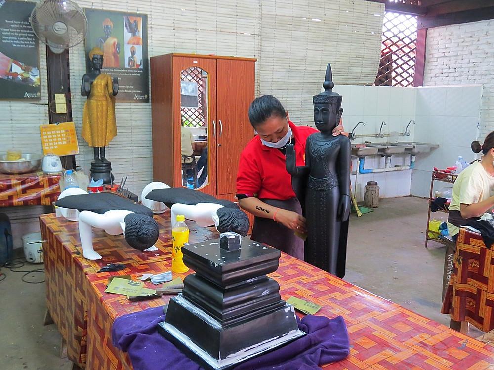 artesanato no Cambodja
