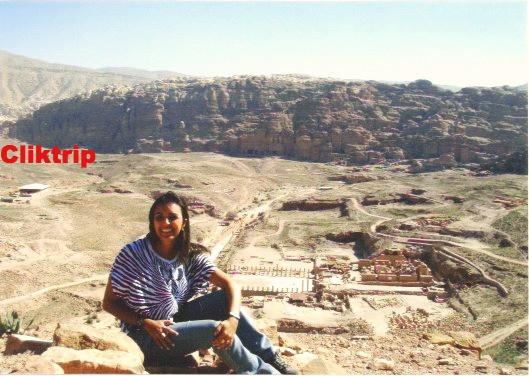 Cidade Baixa de Petra , vista pelo alto
