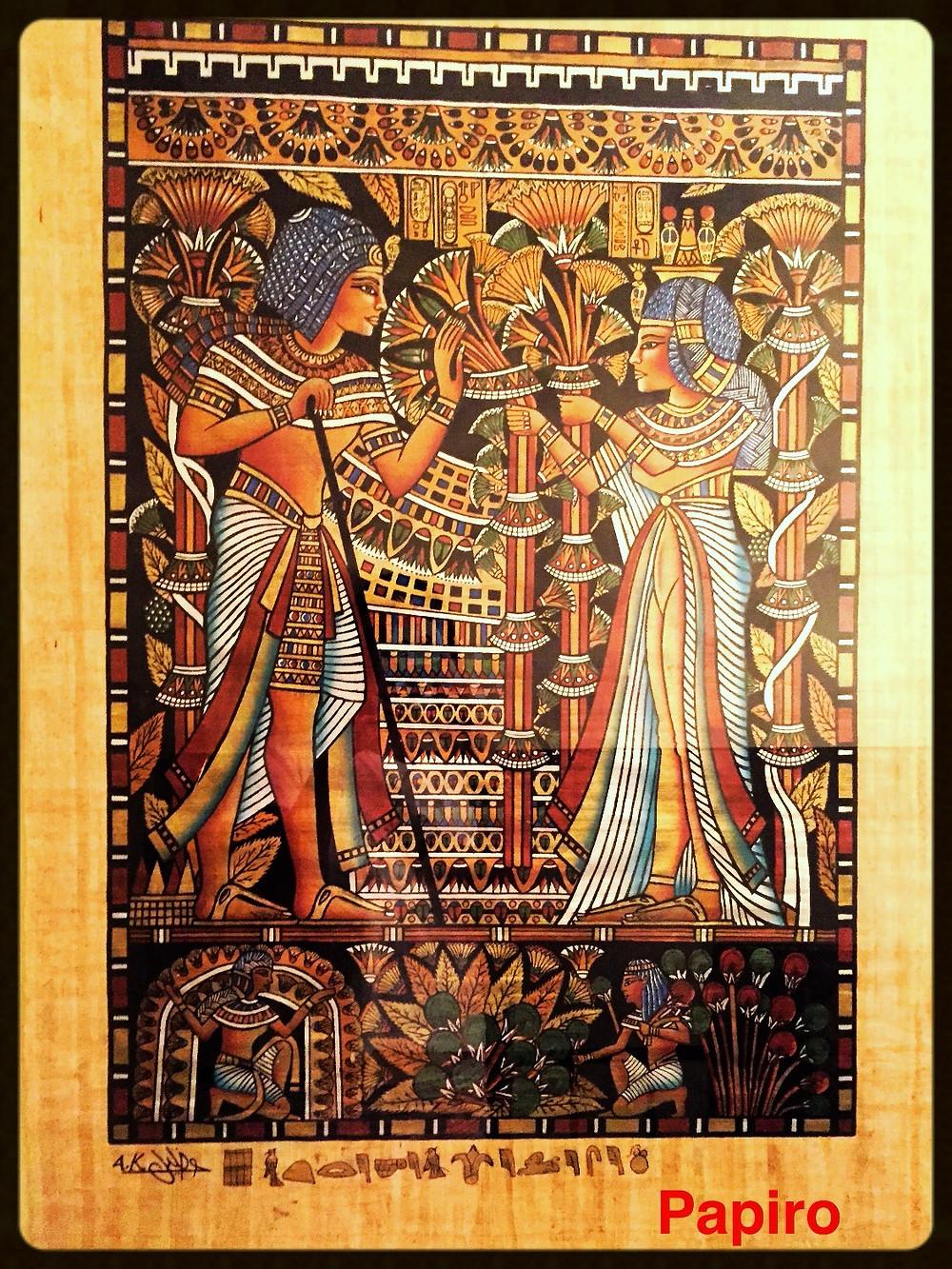 Tutankhamon e sua esposa - Papiro - Egito compras