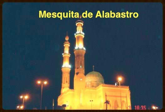 Visão noturna da Mesquita de Alabastro - Egito